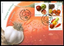 2012 Garlic,Grapes,Tomato,Peppers,Apple,FOOD,Live Healthy,Romania,6621,reg.FDC