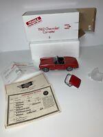Danbury Mint Die Cast 1:24 1962 Chevrolet Corvette Convertible Roman Red