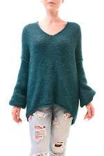 Free People Women's All Mine Long Sleeve Sweater Size XS Jade RRP £99 BCF78