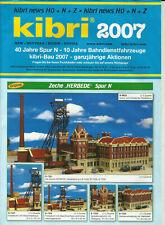 Katalog Kibri Neuheiten 2007 Modellbausätze Gebäude + Zubehör in HO 1:87