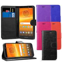 """For Motorola Moto E5 Plus 6.0"""" - Premium Leather Wallet Flip Case Cover + Film"""