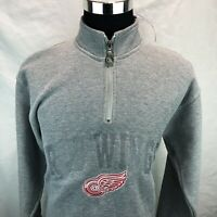 Detroit Red Wings Mens Zip Up Pullover NHL Pro Player Vintage 90s 1990s Medium