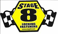 "STAGE 8 Sticker Decal 7.75"" x 4.25""...LOCKING FASTENERS"