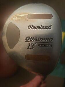 Very Good Cleveland QUADPRO 3 Wood 13* Extra Stiff Rifle STEEL Shaft
