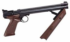 Crosman American Classic Pump Pellet .177 600FPS Air Gun Pistol, Brown - P1377BR