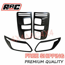For Holden Colorado RG front and Rear Light Lamp Cover Matte Black 2016-2019