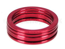 "Bicycle BMX or MTB headset spacers for 1 1/8"" threadless (SET of 5) 2mm - RED"