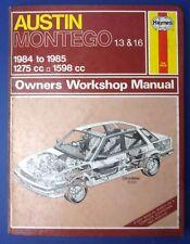 Haynes Owners Workshop Manual Austin Montego 1.3 1.6 1984 -1985 1275 1598 (1712)