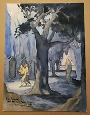 CONCRETE Original Ink & Watercolor Drawing Painting Comic Book Art PAUL CHADWICK