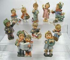 Lot of 10 Vintage Goebel Beta Hummel Christmas Ornaments figurines