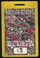 ROLLING STONES REPRO 1994 VOODOO LOUNGE TOUR CREW BACKSTAGE PASS FOB .NOT CD DVD