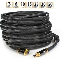 LOT 66FT 50FT 30FT 15FT 10FT 6FT 3FT 1.5FT 8K 4K 1080P HDMI Cable 2.1v 2.0v 1.4
