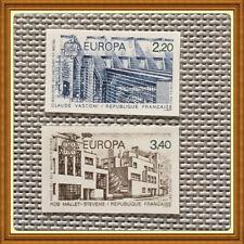 1987 Paire Europa Architecture n°2471 2472 2471a 2472a  ** NON DENTELE cote 85 €