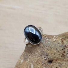 Adjustable Hematite Ring. Handmade Sterling silver rings for women
