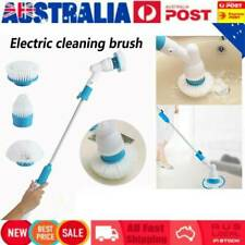 AU Electric Spin Scrubber Cleaning Brush Bathroom Floor Household Clean+3 Heads