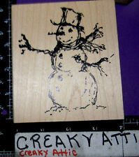 SNOWMAN SKETCH RUBBER STAMPS ART IMPRESSIONS F2147