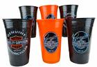Harley Davidson Cold Beer Cups 16 oz Tumbler Set of 6 Man Cave Barware Gift