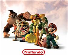 "Nintendo mix characters Posters Game Art Silk Wall Poster Prints 28x34"" NIN22"