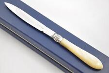 HEAVY CASED SHEFFIELD MOTHER OF PEARL SOLID SILVER BLADED LETTER OPENER 1824