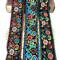 1 Yard Flower Embroidered Trim Oven Jacquard Ribbon Sewing DIY Craft Bag Decor