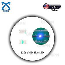 100Pcs 1206 3216 SMD SMT LED Chip Bright Blue Light Lamp Emitting Diodes Beads