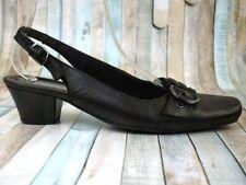 GABOR Comfort ☘ Pumps Sandale Gr. 37,5 (4,5 H) Schwarz Damen Leder Schuhe