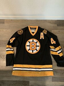 Adidas Authentic Boston Bruins Bobby Orr Jersey Size 50 Medium