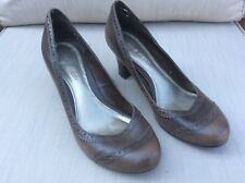 Señoras/para Mujer Nine West Marrón Inteligente Tribunal Zapatos Talla Uk 6.5 (8.5 US)