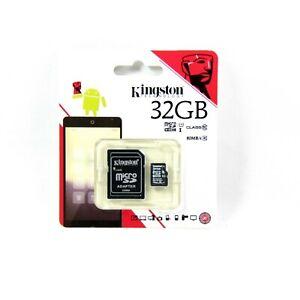 KINGSTON MEMORY FLASH CARD MICRO SDHC SDXC CLASS 10 UHSI 32GB NEW SDC10G2/32GBFR