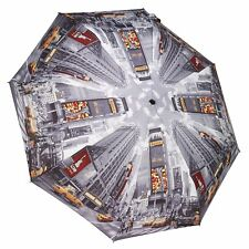 Galleria New York City Time Square Automatic Open Close Folding Compact Umbrella