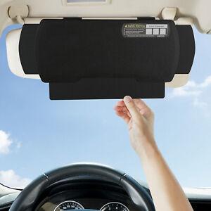 WANPOOL Car Front Seat Window Sunshade Extender, Anti-glare Sun Blocker, Black