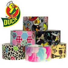 6 Duck Brand Designer Printed Pattern Duct Tape Rolls Art Crafts DIY Bulk Lot