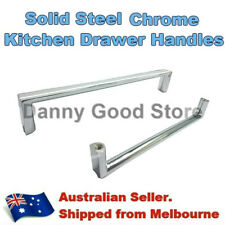 Polished Chrome Steel Square Pulls Handles Kitchen Cabinet Cupboard Drawer 160mm