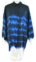 Stella McCartney Eileen Shirt Dress Blue Silk UK 10, IT 40 Womens RRP £990