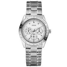 New GUESS Women Silver tone Steel Watch  U11043L1