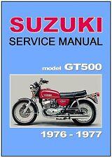 SUZUKI Workshop Manual GT500 1976 GT500A 1977 GT500B Maintenance Service Repair