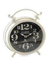 French Style Shabby Chic Cream Mantle Clock - Paris Chateau de Montautre