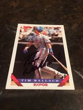 Tim Wallach Autographed Auto Signed Baseball Card Trading MLB
