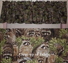 New Raccoons Wild Animals Hunters Valance Curtain Bathroom Boys Room Man Cave