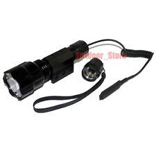 Ultrafire C8 CREE XM-L L2 LED 1Mode 1200LM Tactical Flashlight + Pressure Switch