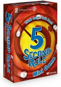 5 Second Rule Mini Game, Family Fun, Card Game - NEW & SEALED
