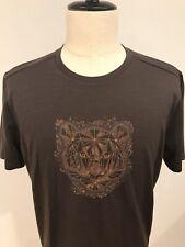 NWT Smartwool Men's Merino Wool Sport 150 Tech Tee Brown Lion Print Size Medium