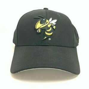 Georgia Tech Yellow Jacket Buzz NCAA Embroidered Adjustable Black Strap Back Hat