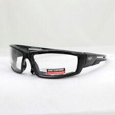 Biker Chopper Motorrad Sport Brille Sonnenbrille Splitterfrei Klare Gläser NEU