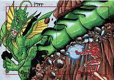 Marvel Greatest Battles Panel Sketch Card By Mark Tannacore Iron Man & Dragon