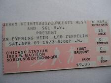 LED ZEPPELIN Original 1977__NM-__CONCERT TICKET STUB__Chicago Stadium