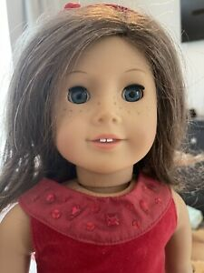 American Girl Doll, Truly Me, Brunette, Blue Eyes, Freckles - Preowned 2 Dress