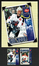 1996-97 Post Cereal NHL Promo Mini Poster & Card, Leafs' & Devils' Doug Gilmour