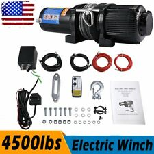 4500lbs Electric Winch W/ Synthetic Rope&Wireless Remote For Off-road Vehicle