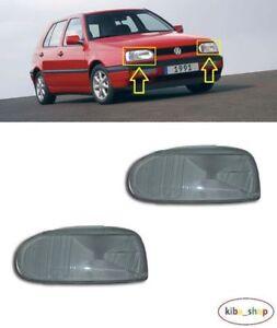 VW Golf MK3 1992 - 1998 Avant Phare Lentille Housse Verre Gauche + Droit LHD